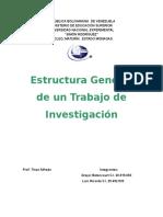 Estructura General de Un Trabajo de Investigación
