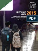 Informe Anual sobre  Embarazo Adolescente 2015