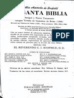 Biblia Anotada de Scofield, Primera Parte