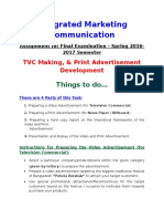 IMC Assignment for Final Examination - TVC Making & Print Advertisement Development.doc