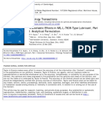 Viscoelastic Effects in MIL-L-7808-Type Lubricant, Part I