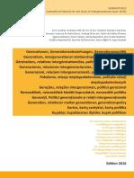 Generationen, Generationenbeziehungen, Generationenpolitik - 2016 Edition