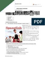 Spanglish Worksheet