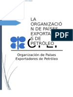La Organización de Países Exportadores de Petroleo