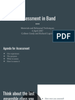 assessment in band m r