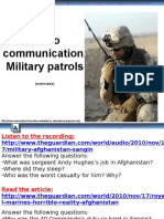 Military patrol radio communication