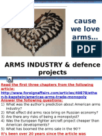 Arms Industry Defence Projects