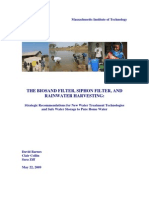 Biosand Filter, Siphon Filter, Rainwater Harvesting