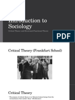 Introduction to Sociology Critical Theory and Structural-Functional Theory-PPT-9