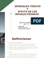 EXPOSICION de PET-229 GRUPO # 16 Materiales Toxicos y Efecto de Los Metales Pesados 2012 Sem 220