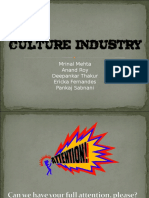 Culture Industry PPT