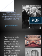 "Adorno and Horkheimer, ""the Culture Industry_ Enlightenment as Mass Deception"" (1944)-11"