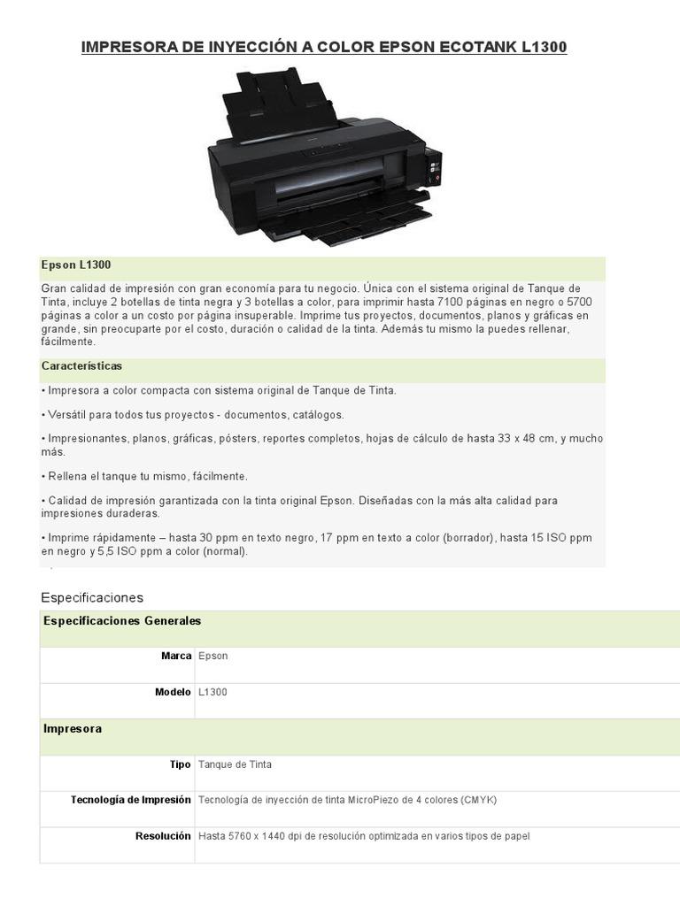 terminos de una impresora epson
