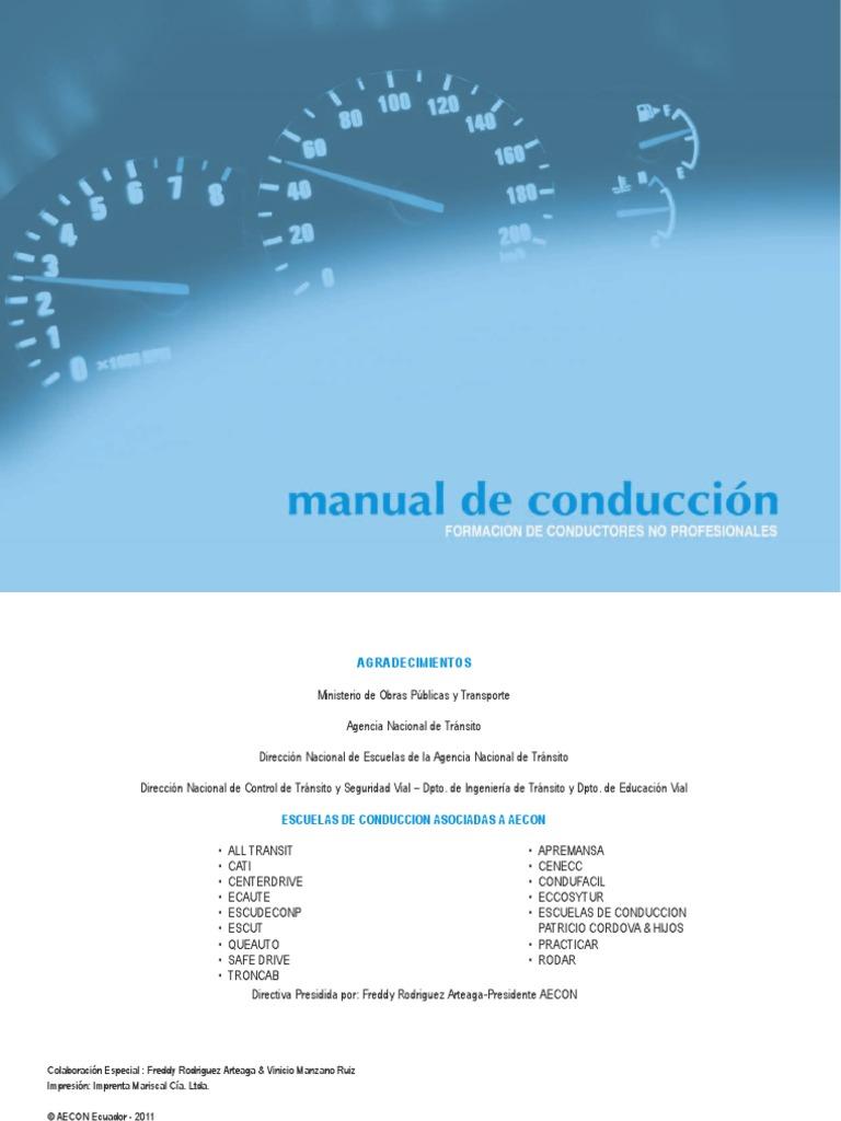 Manual de conduccion 1 pdf for Manual de restaurante pdf
