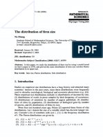 The Distribution of Firm Size
