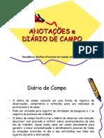 Anotações Diário de Campo