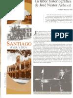 María Mercedes Tenti. La labor historiográfica de José Néstor Achaval.Sgo. del Estero. La Columna Nro 1079,2014.