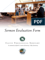 Sermon Evaluation Form