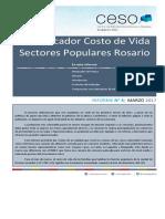 Informe Costo de Vida Marzo   Sectores Populares Rosario