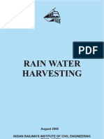 Rain Water Harvesting - Indian Railways