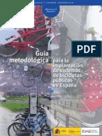 Guía metodológica para la implantación de sistemas de bicicletas públicas en España