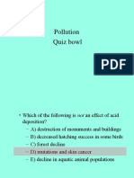 Pollution Quiz Bowl