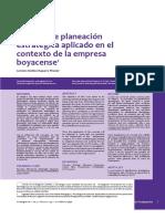 Proceso de Planeación Estratégico