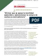 Medio Ambiente Urbano Artículo de consumer.es (2009-06-10)