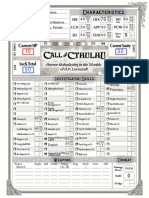 Character Sheet - 1920s - Basic Autocalc - Call of Cthulhu 7th Ed
