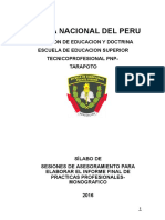 20161210ejemplo Nuevo Silabo Informe Final de Practica Pre Profesional -Forjadores -2016. Pnp- Tarapoto Ok