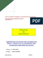 Libéralisation Du Secteur Des Transports Au Marco, Impact Sur Le Management