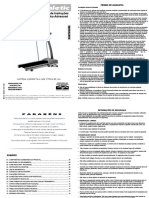 Manual Esteira Athletic Advanced II