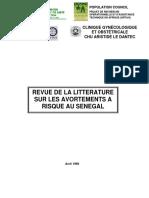 REVUE DE LA LITTERATURE SUR LES AVORTEMENTS A RISQUE AU SENEGAL
