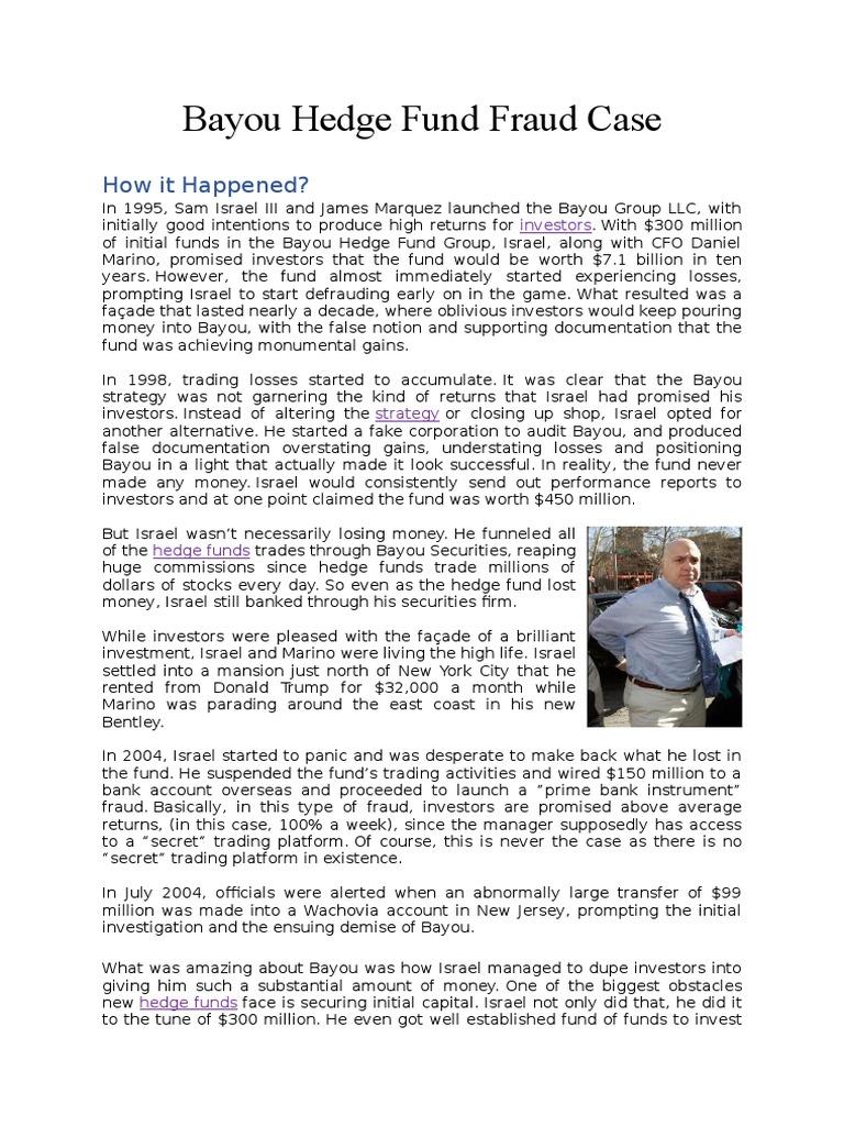 Bayou Fraud Case -1 | U S  Securities And Exchange
