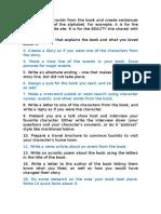 Ideas para un trabajo sobre un libro