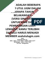 Download Bonus Soal+pembahasan UM Utul UGM TKDU+TKPA