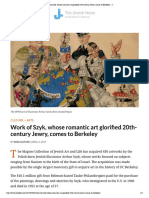 Work of Szyk, Whose Romantic Art Glorified 20th-Century Jewry, Comes to Berkeley