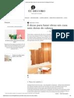 8 Dicas Para Fazer Obras Em Casa Sem Dores de Cabeça _ Eu Decoro