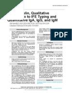 Cryoglobulin Qualitative Reflex IFE Typing and Quantitative IgA, IgG, IgM