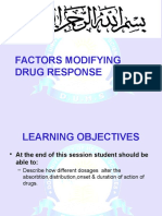 Factors Affecting Drug Response