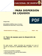 Equipos Para Dispersión de Liquido