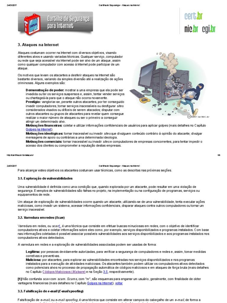 c5f69d082e18d Cartilha de Segurança -- Ataques Na Internet