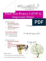 Final Year Project 2 Important Dates PosterA4