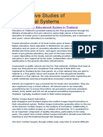 Comparative Studies of Educational Systems
