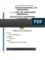 Ejercicios de Química II