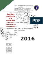 Análisis cualitativo y cuantitativo del Salbutamol sulfato