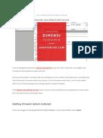 Cara Setting Dimensi dalam Autocad.docx