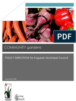 Community Gardens Policy Directions