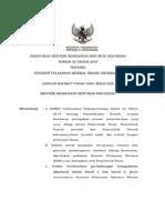 PMK No. 43 Tahun 2016 Ttg Standar Pelayanan Minimal Bidang Kesehatan Per 31 Agustus 2016