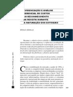 Evidenciação e análise gerencial de custos no reconhecimento da receita durante a maturação de estoques
